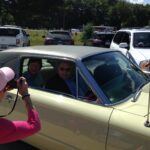 Timothy King and Senator Collins in the Ford Thunderbird