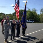 The Veteran's Color Guard Honoring the King's Bridge Dedication Plaque