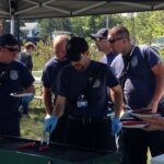 The Howland Fire/EMS Department Preparing Lunch for Everyone